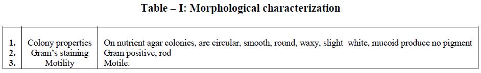 european-journal-of-experimental-biology-Morphological-characterization